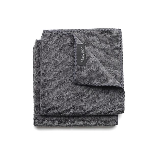 Микрофибърни кърпи Brabantia Dark Grey, 2 броя