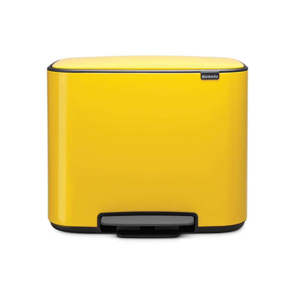 Кош за смет Brabantia Bo Pedal 3x11L, Daisy Yellow