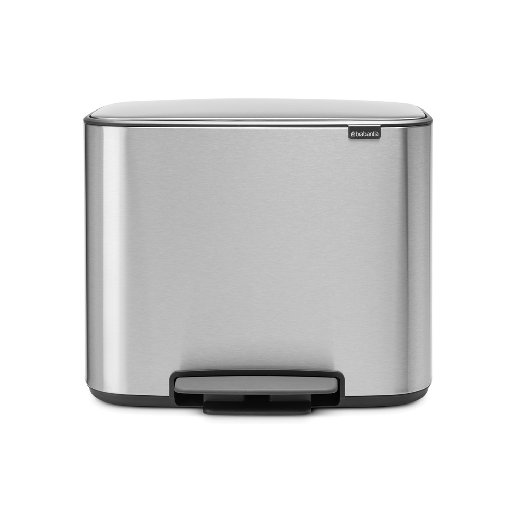 Кош за смет Brabantia Bo Pedal 3x11L, Matt Steel Fingerprint Proof