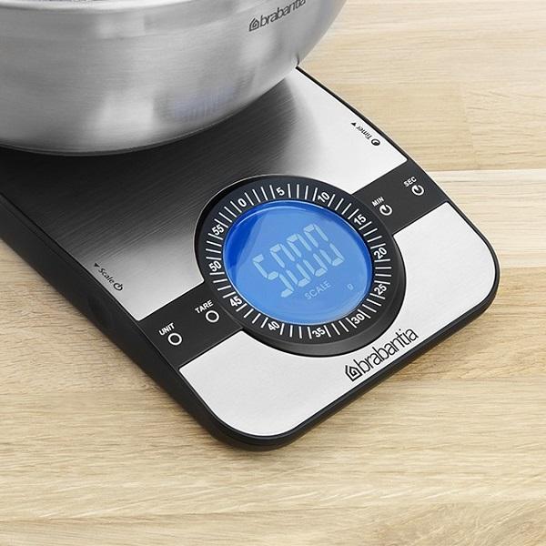 Кухненска везна Brabantia Profile Matt Steel, дигитална, с таймер, правоъгълна(2)