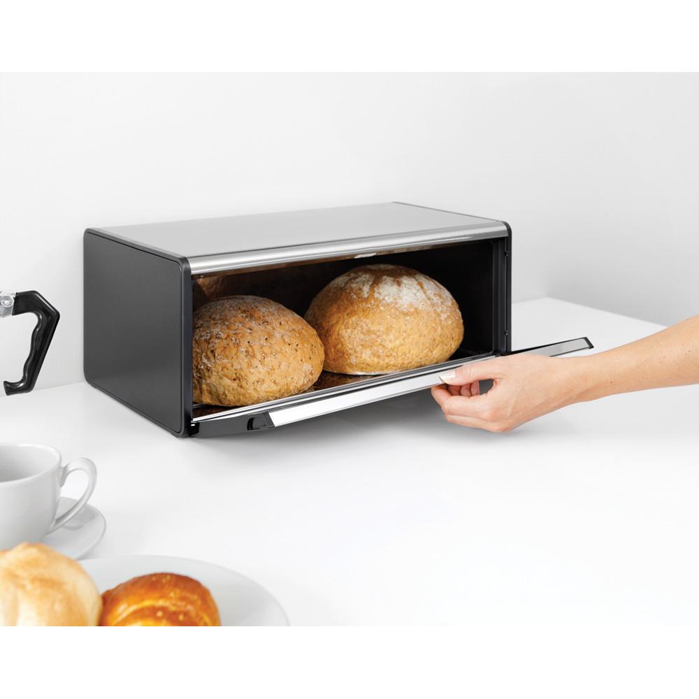 Кутия за хляб Brabantia Fall Front Matt Black(5)