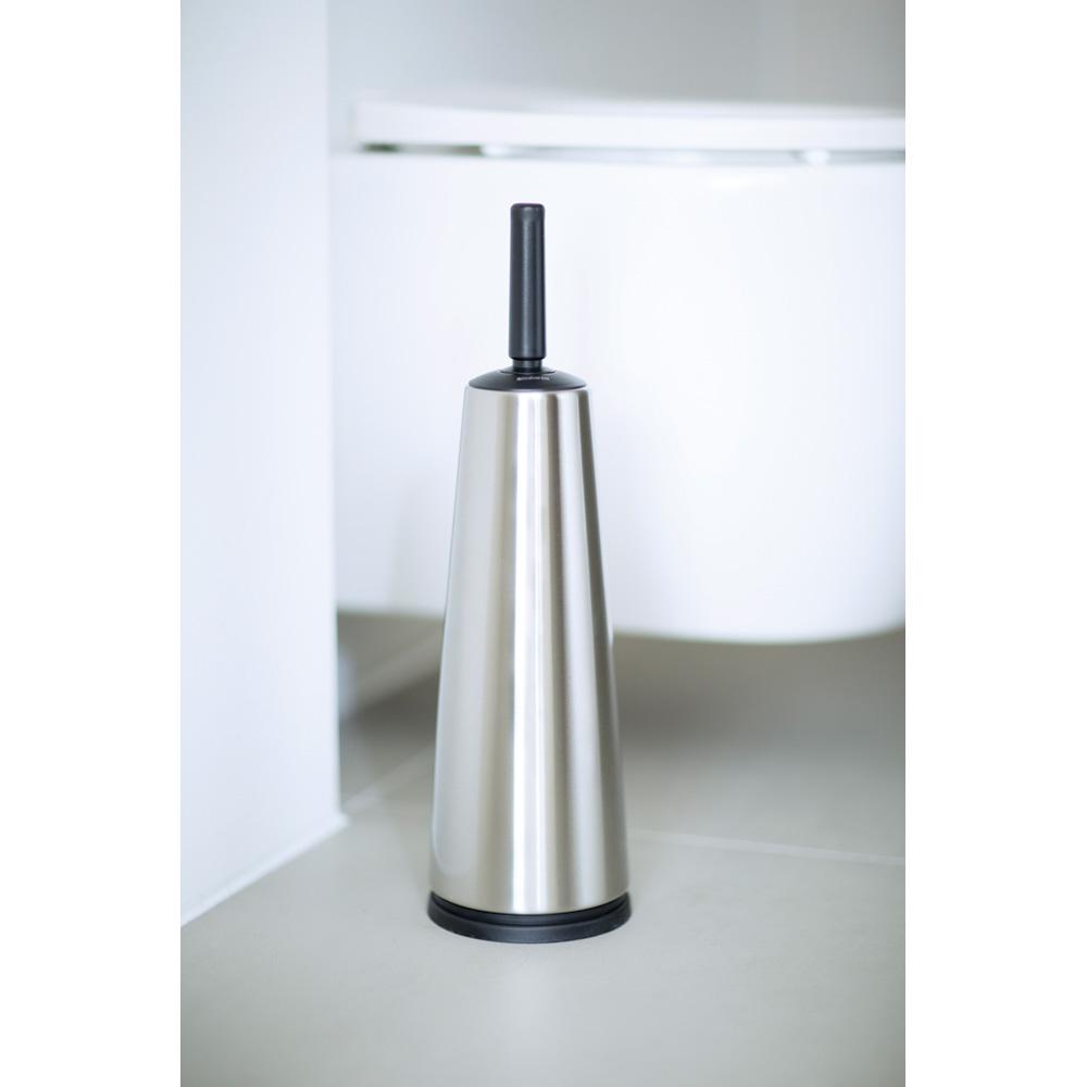 Четка за тоалетна Brabantia Classic Matt Steel с черна дръжка(2)