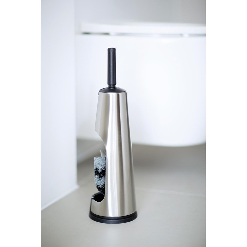 Четка за тоалетна Brabantia Classic Matt Steel с черна дръжка(3)