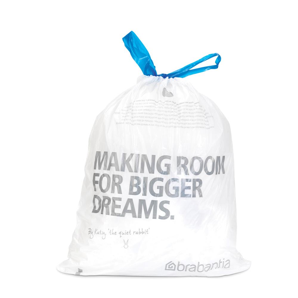 Торба за кош Brabantia размер E, 20L, 20 броя, бели(2)