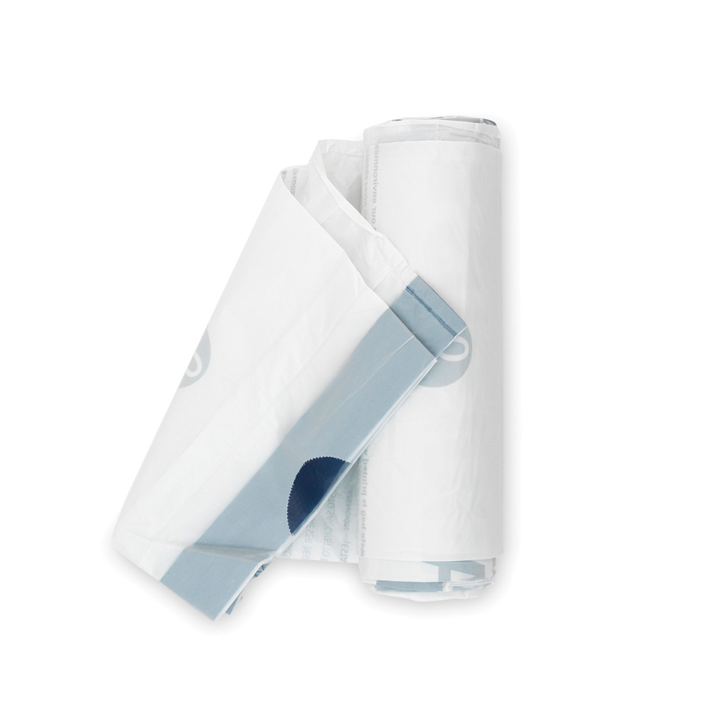 Торба за кош Brabantia размер Q, 18L, 20 броя, бели(1)