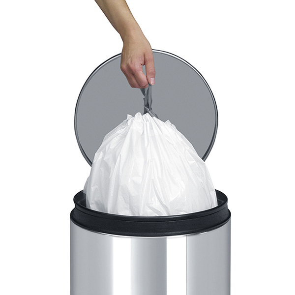 Торба за кош Brabantia размер Q, 18L, 20 броя, бели(3)