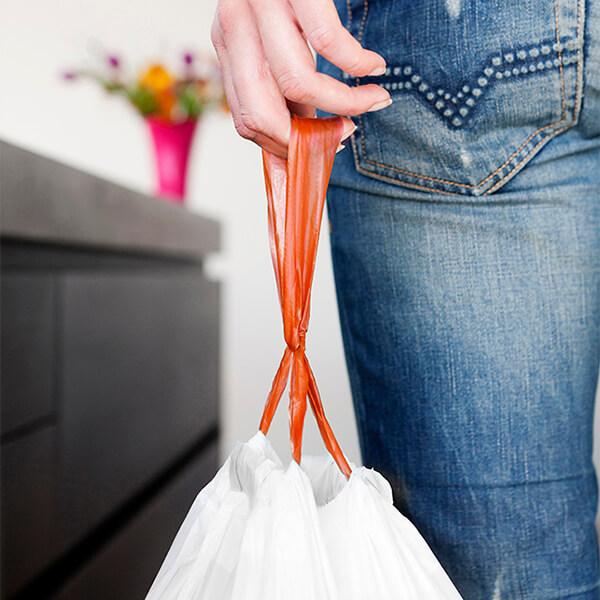 Торба за кош Brabantia размер B, 5L, 60 броя, бели(4)