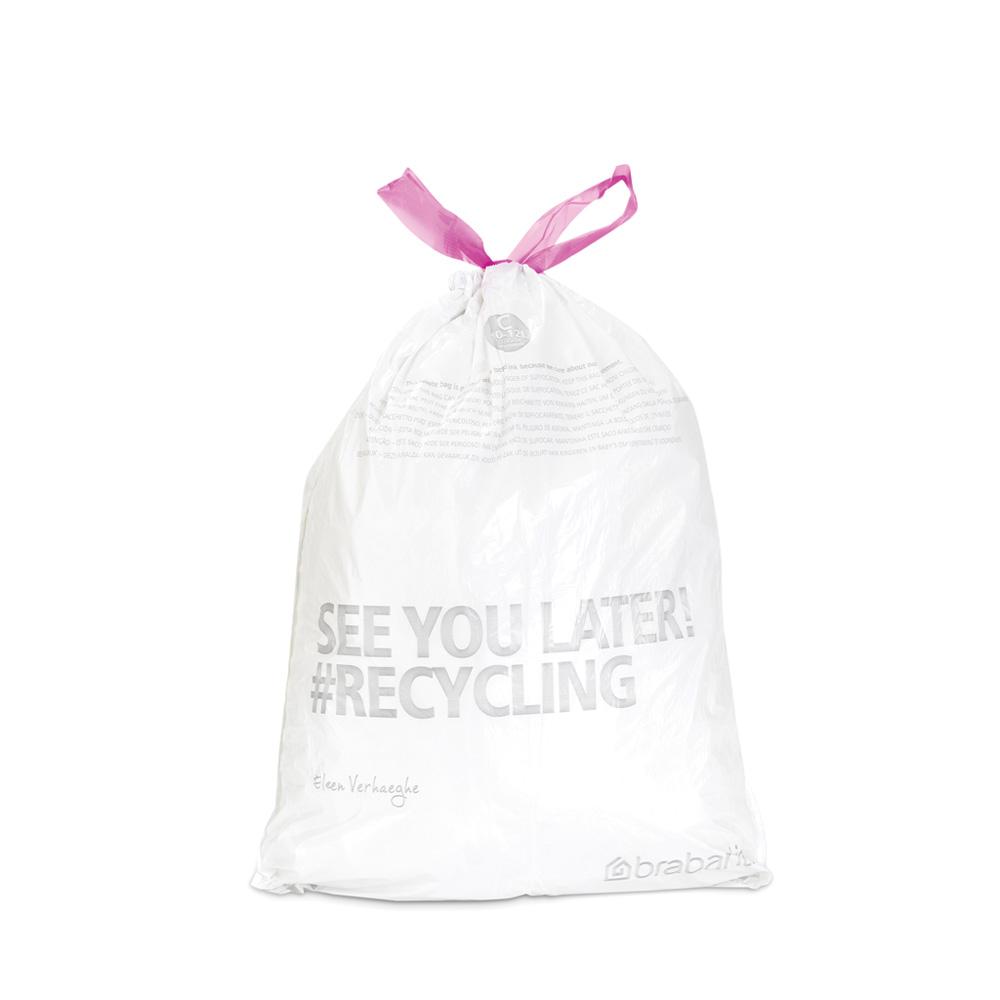 Торба за кош Brabantia размер C (NewIcon/Bo), 10-12L, 40 броя, бели(1)