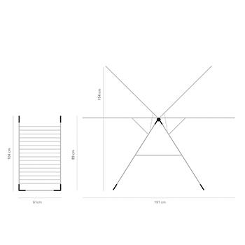 Простор Brabantia Т-образен 20m, Metallic Grey(13)
