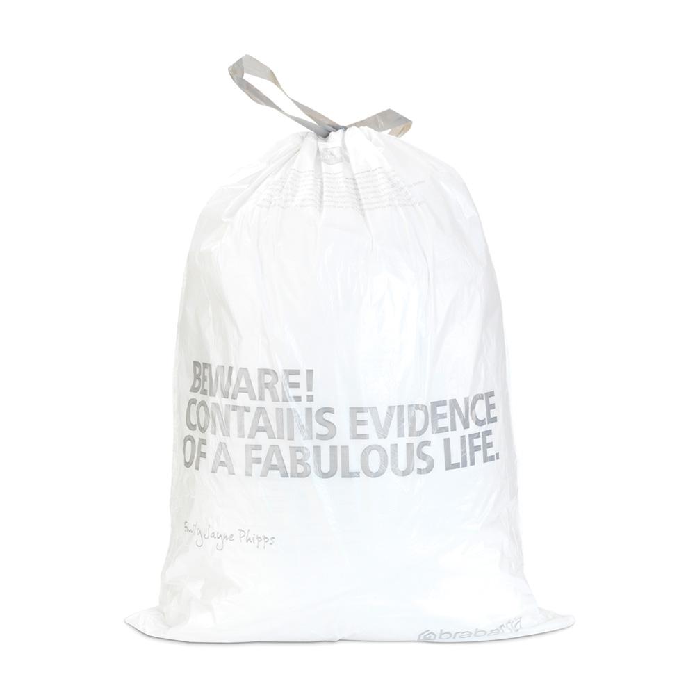 Торба за кош Brabantia размер H, 50-60L, 30 броя, бели(1)