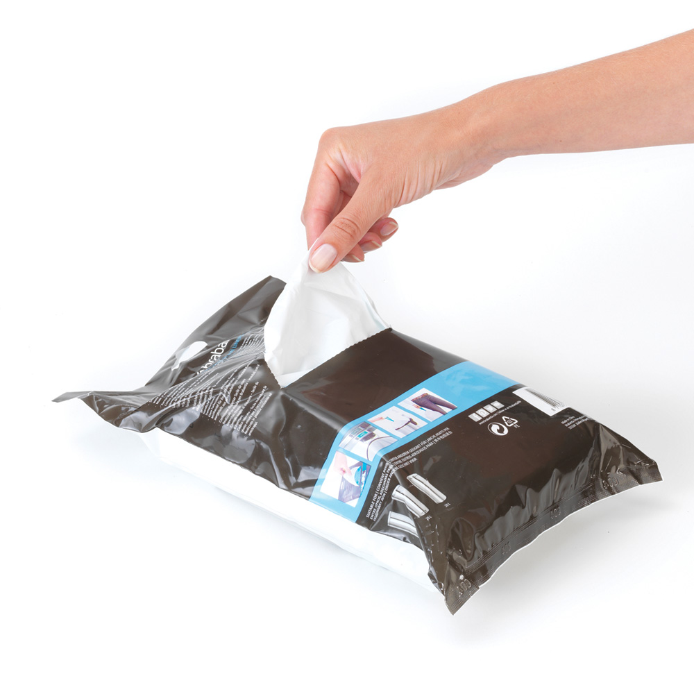 Торба за кош Brabantia размер F (Slimline), 20L, 40 броя, бели(3)