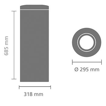 Кош за смет Brabantia Flame Guard 30L, Brilliant Steel(6)