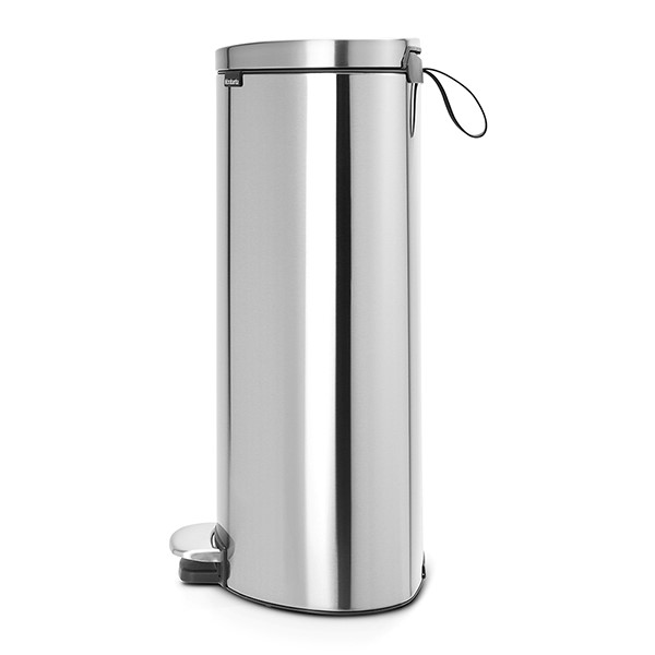Кош за смет с педал Brabantia FlatBack+ 30L, Matt Steel Fingerprint Proof