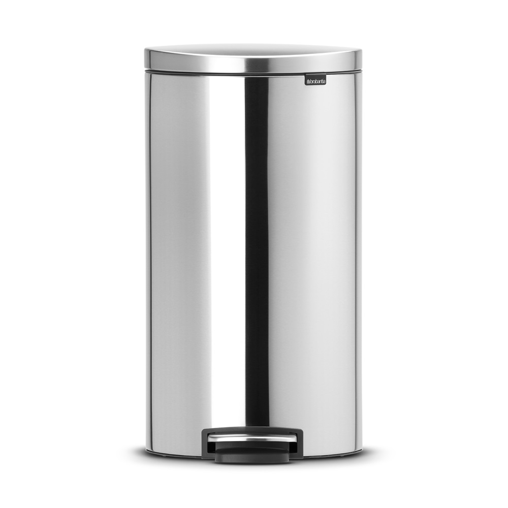 Кош за смет с педал Brabantia FlatBack+ 30L, Matt Steel Fingerprint Proof(1)