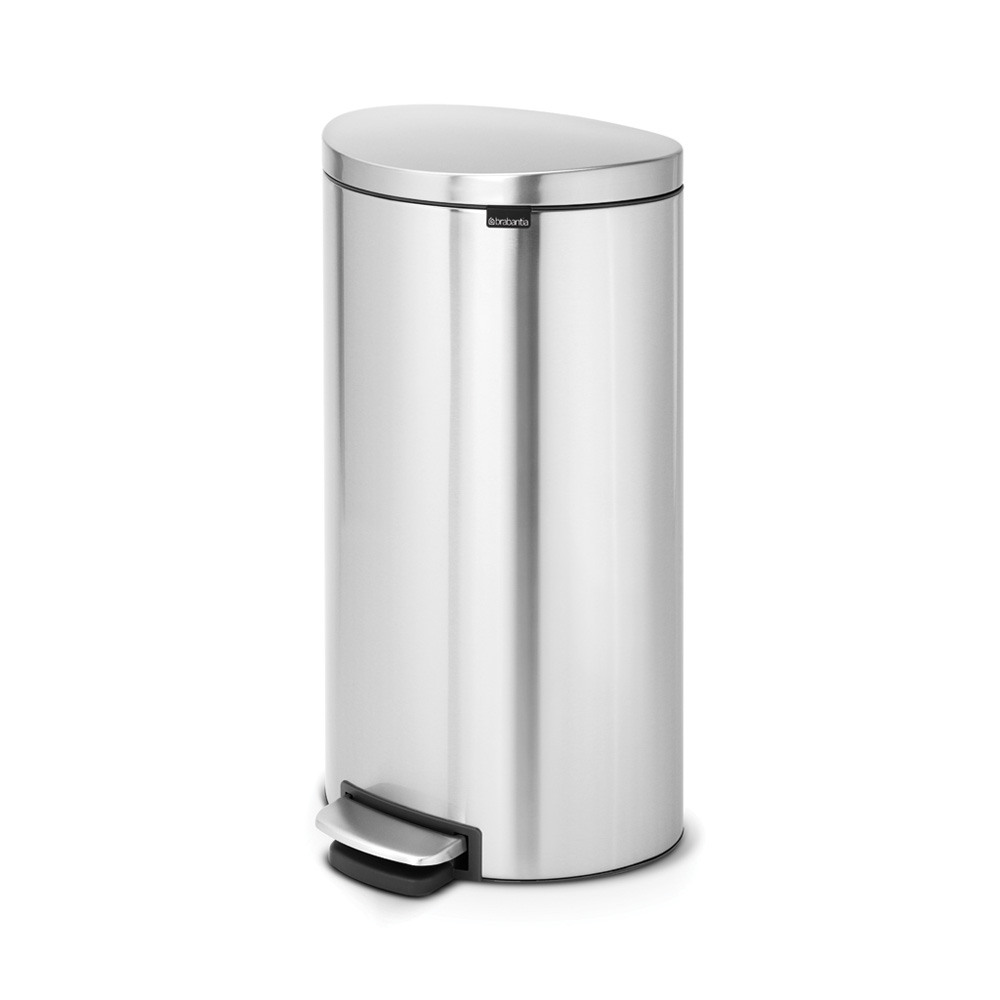 Кош за смет с педал Brabantia FlatBack+ 30L, Matt Steel Fingerprint Proof(3)