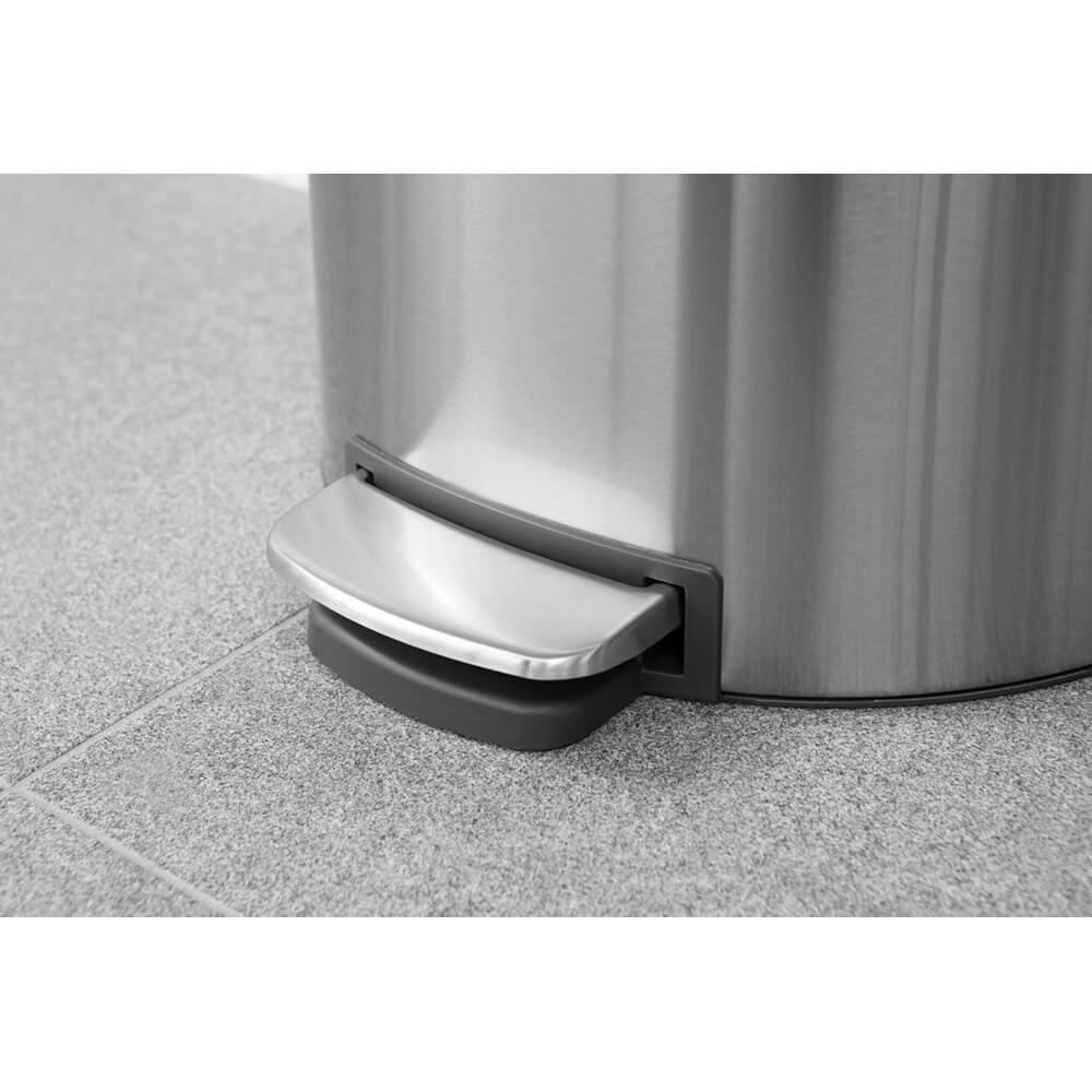 Кош за смет с педал Brabantia FlatBack+ 40L, Matt Steel Fingerprint Proof(4)
