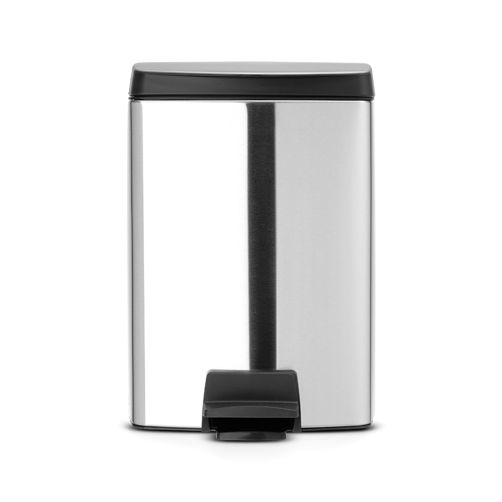 Кош за смет с педал Brabantia Silent 10L, Matt Steel Fingerprint Proof
