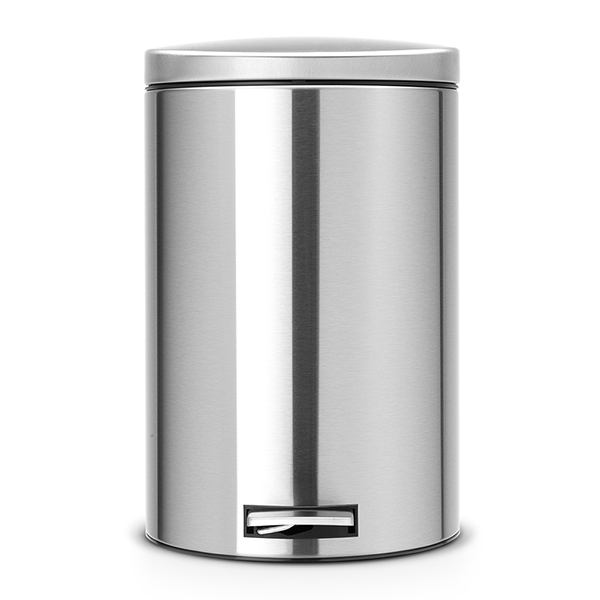 Кош за смет с педал Brabantia Silent 20L, Matt Steel Fingerprint Proof