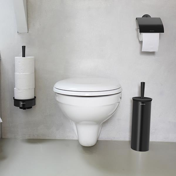 Държач за тоалетна хартия Brabantia Classic Matt Black (2)
