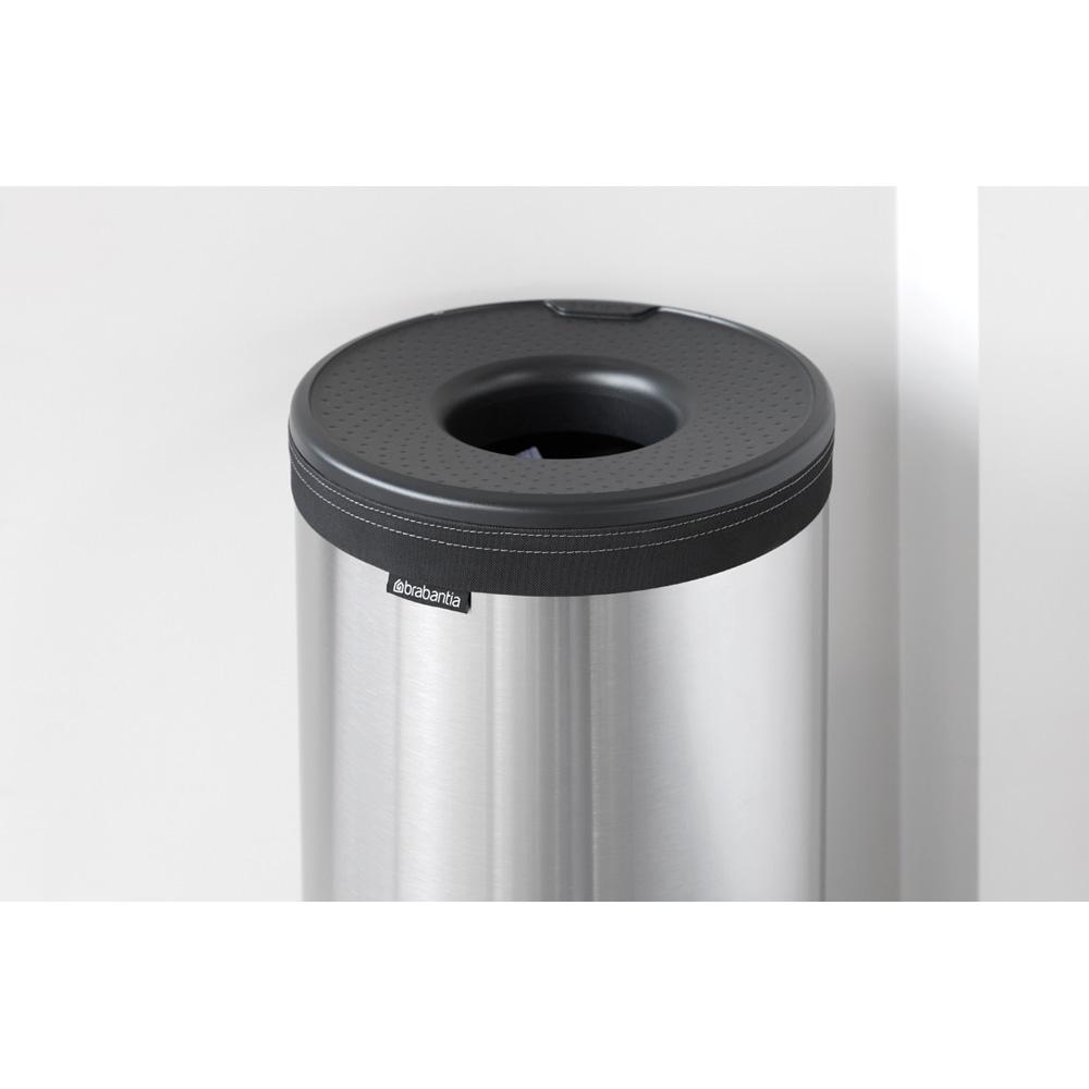 Кош за пране Brabantia 35L, Matt Steel, пластмасов капак(10)