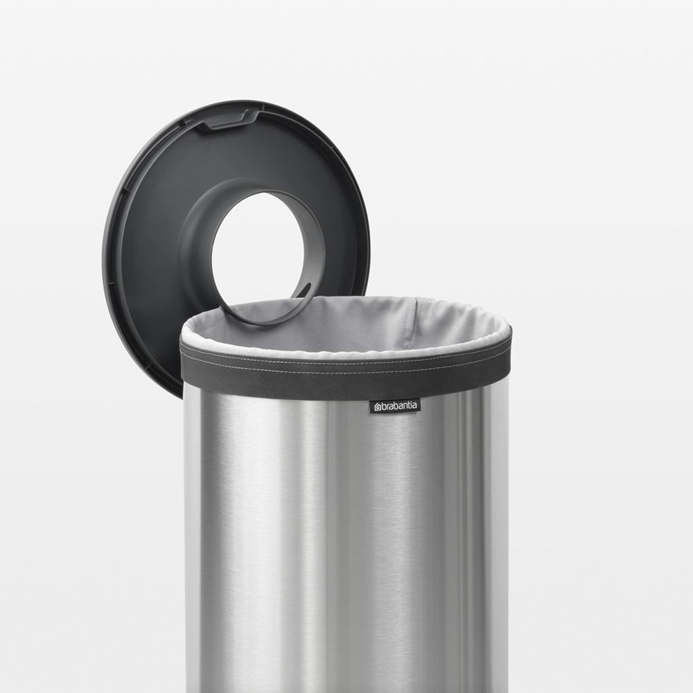 Кош за пране Brabantia 35L, Matt Steel, пластмасов капак(13)