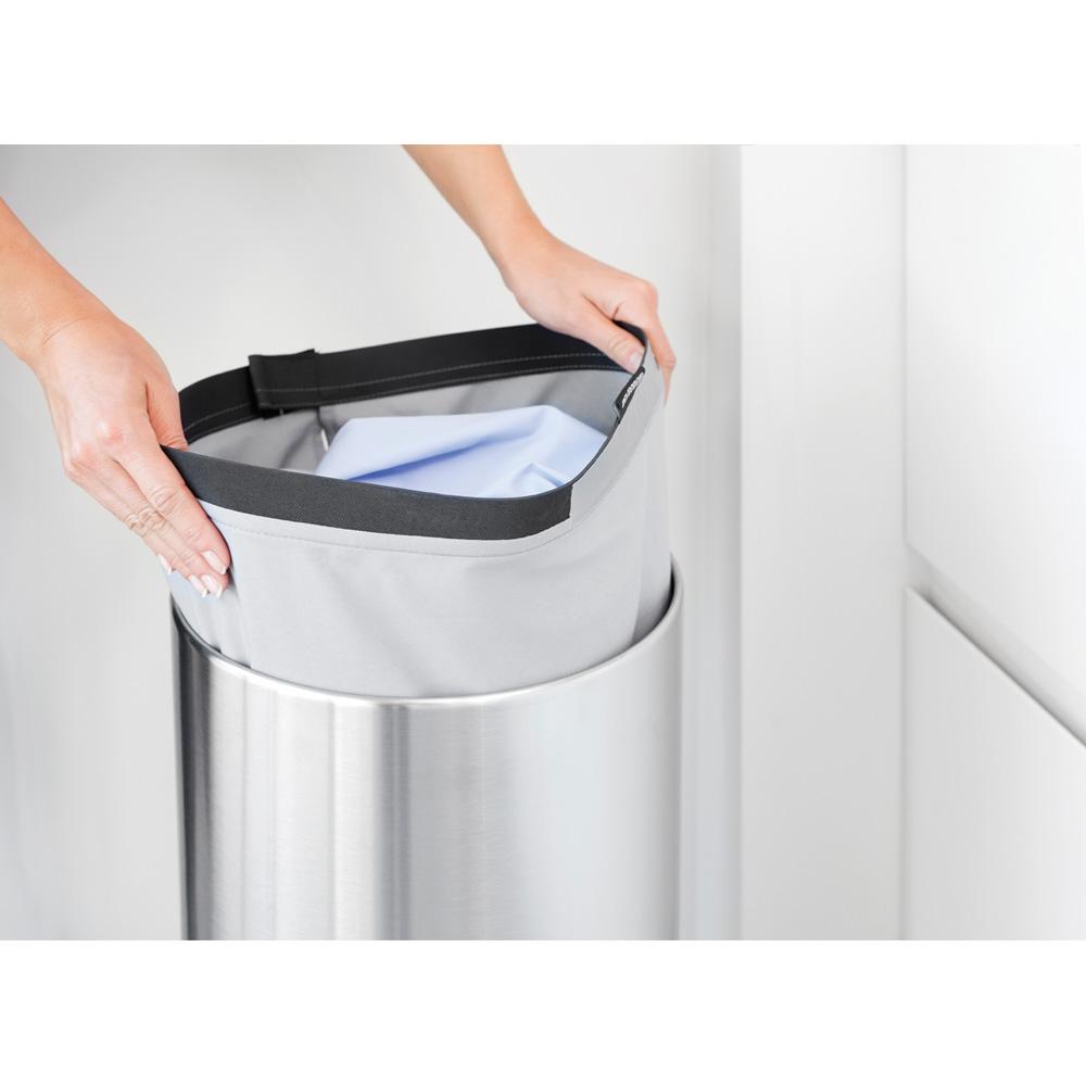 Кош за пране Brabantia 35L, Matt Steel, пластмасов капак(14)