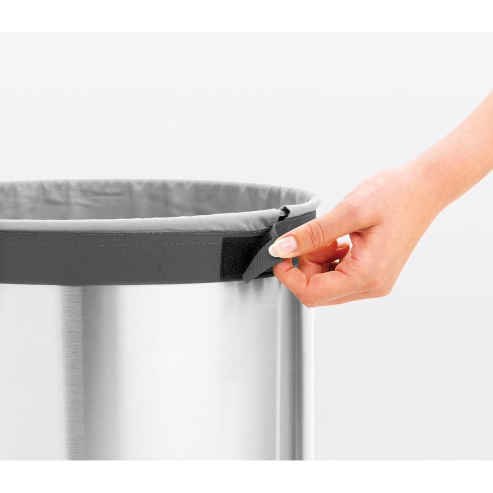 Кош за пране Brabantia 35L, Matt Steel, пластмасов капак(15)