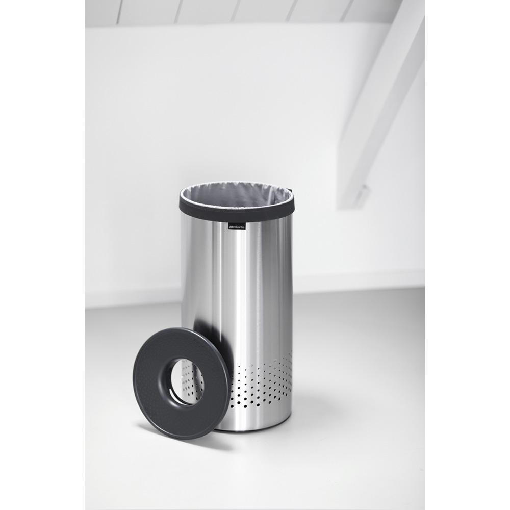 Кош за пране Brabantia 35L, Matt Steel, пластмасов капак(7)
