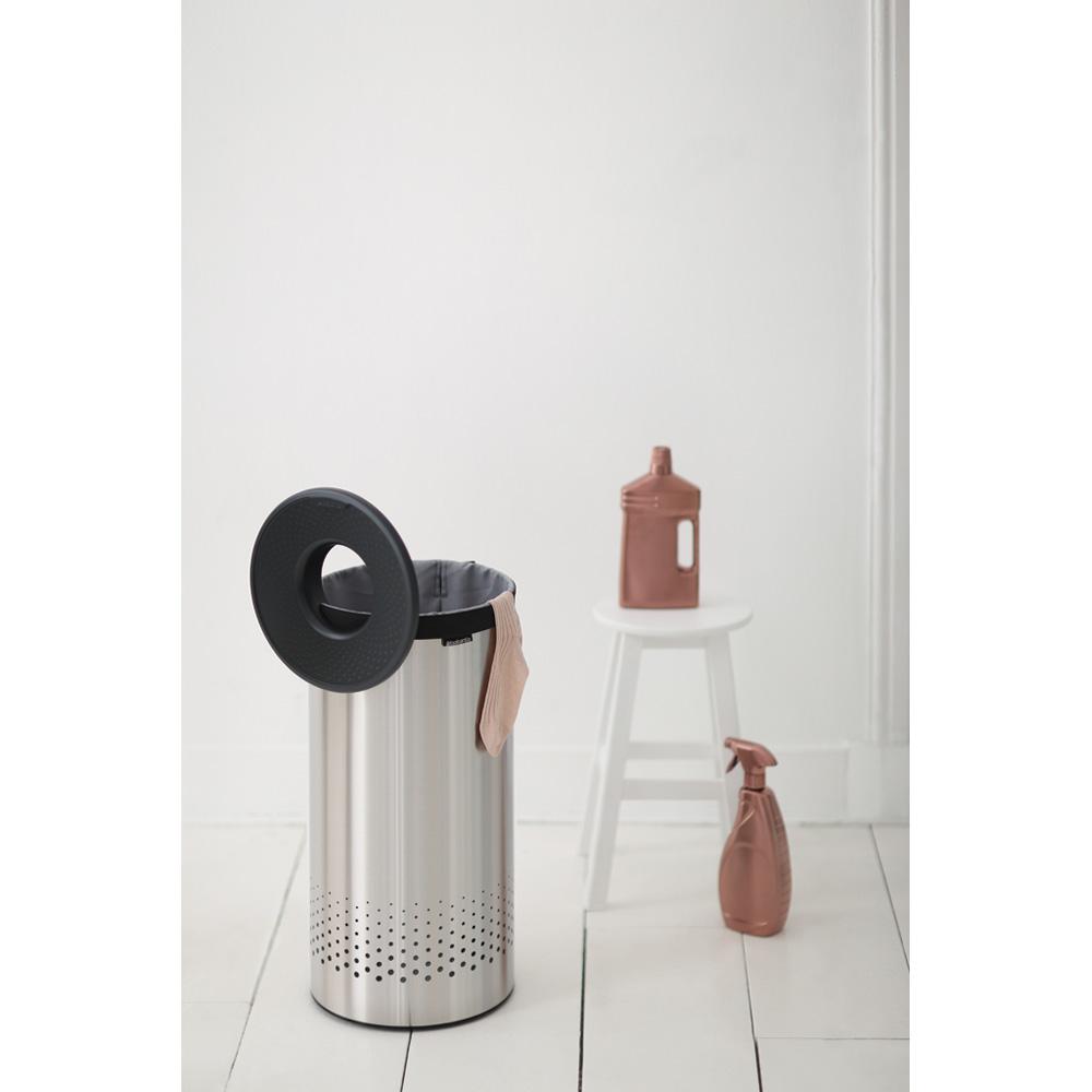 Кош за пране Brabantia 35L, Matt Steel, пластмасов капак(8)