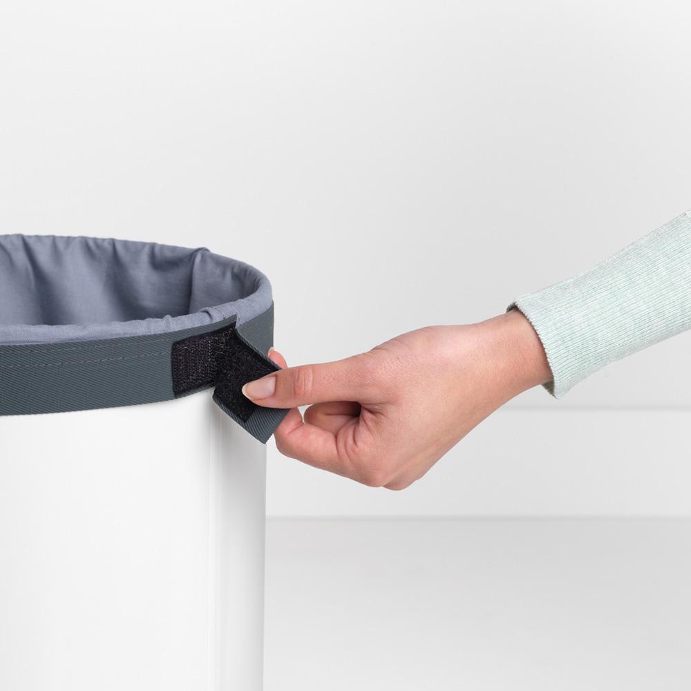 Кош за пране Brabantia 35L, White, корков капак(10)