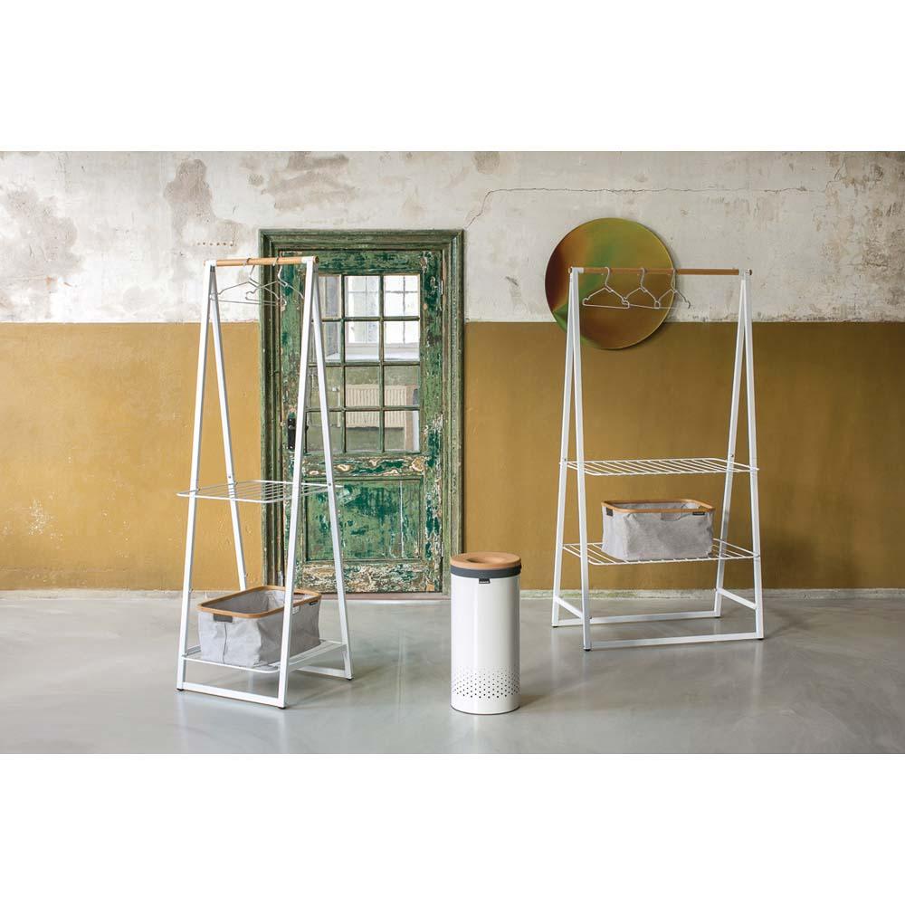 Кош за пране Brabantia 35L, White, корков капак(6)