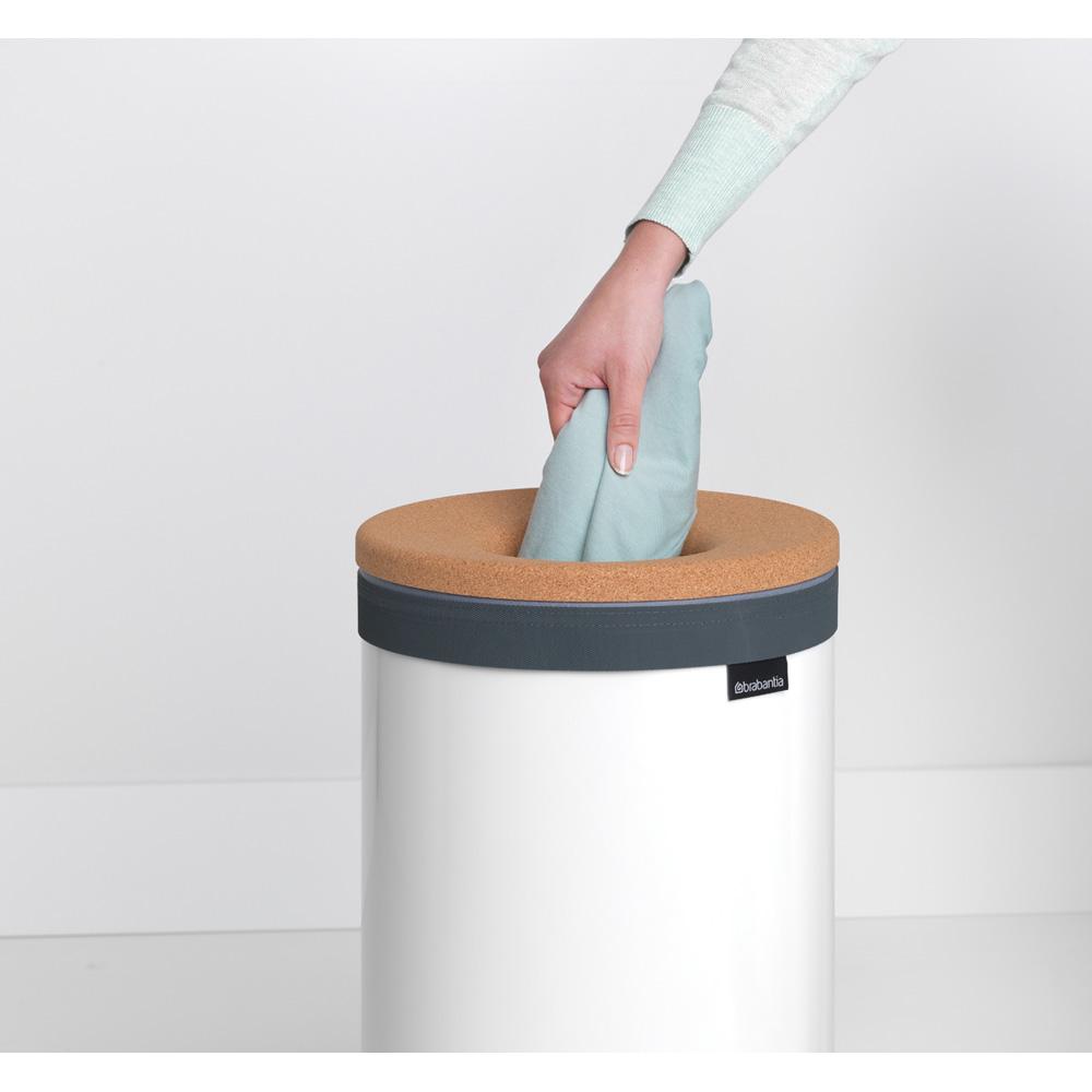 Кош за пране Brabantia 35L, White, корков капак(9)