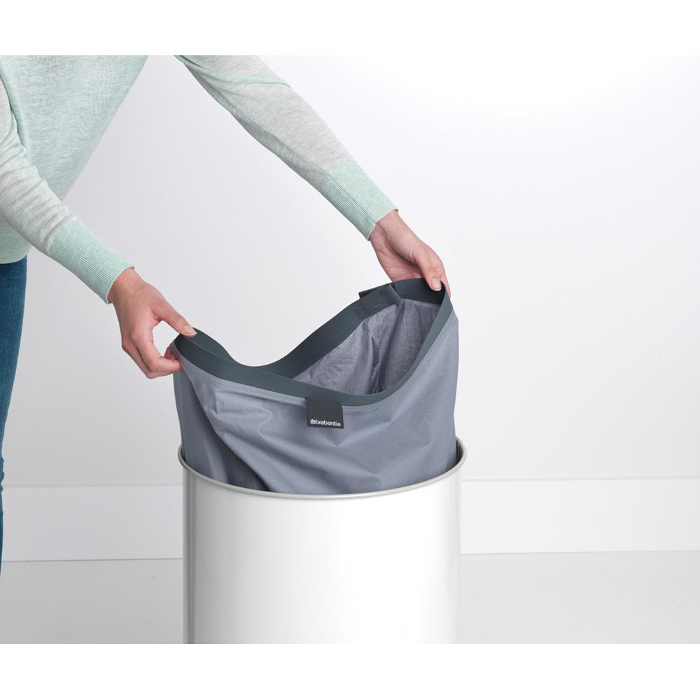 Кош за пране Brabantia 60L, White, корков капак(10)