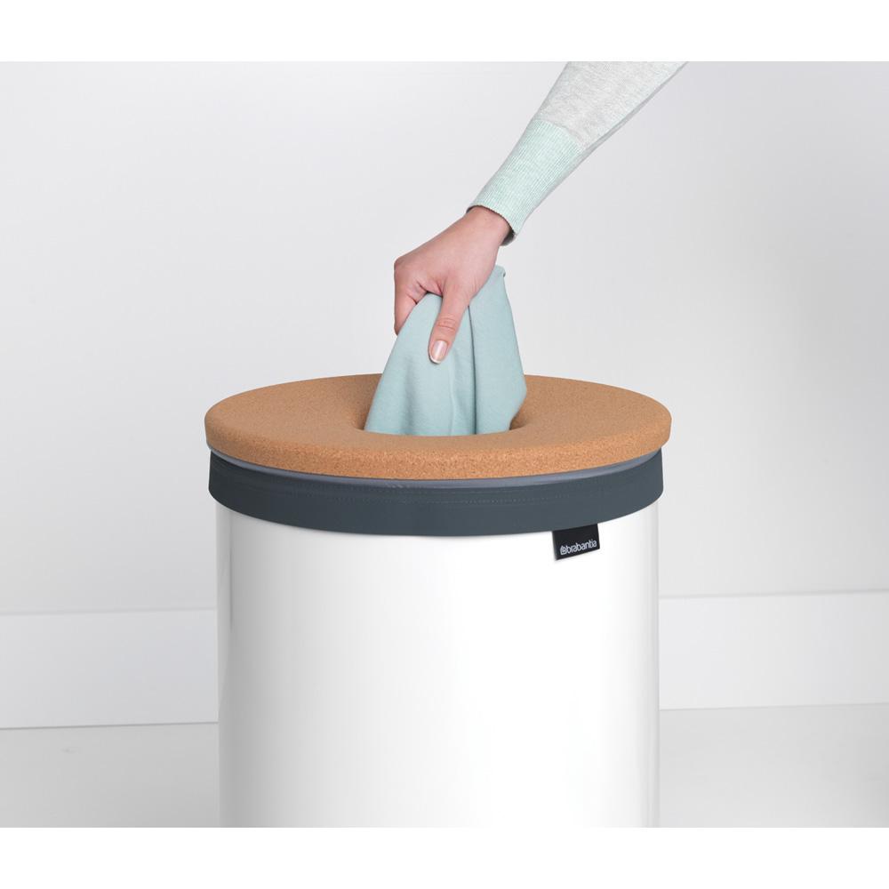 Кош за пране Brabantia 60L, White, корков капак(7)