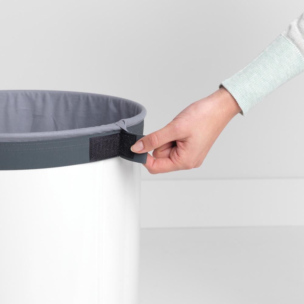 Кош за пране Brabantia 60L, White, корков капак(8)