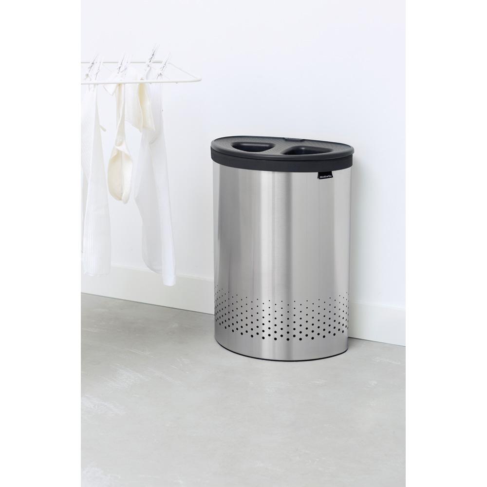 Кош за пране Brabantia Selector 55L, Matt Steel(6)