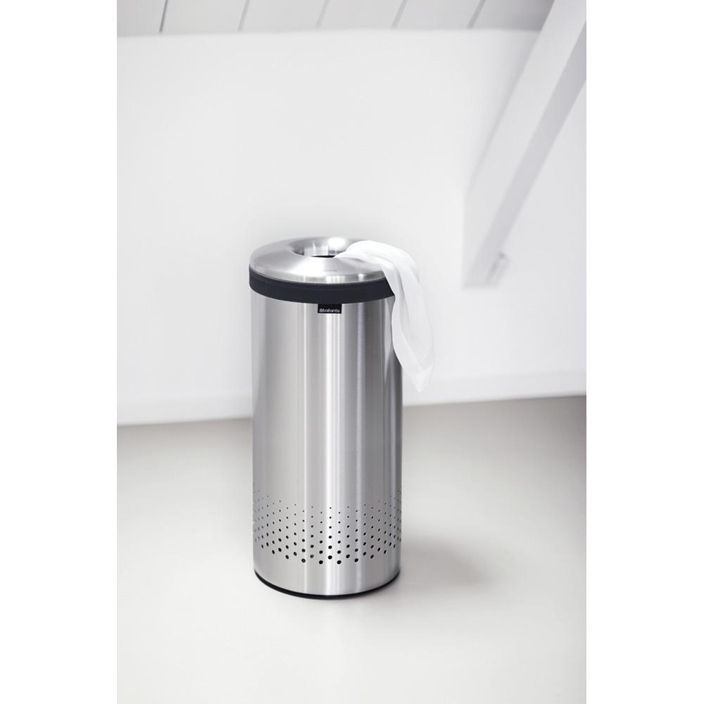 Кош за пране Brabantia 35L, Brilliant Steel, метален капак(1)