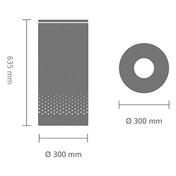 Кош за пране Brabantia 35L, Matt Steel, метален капак(7)