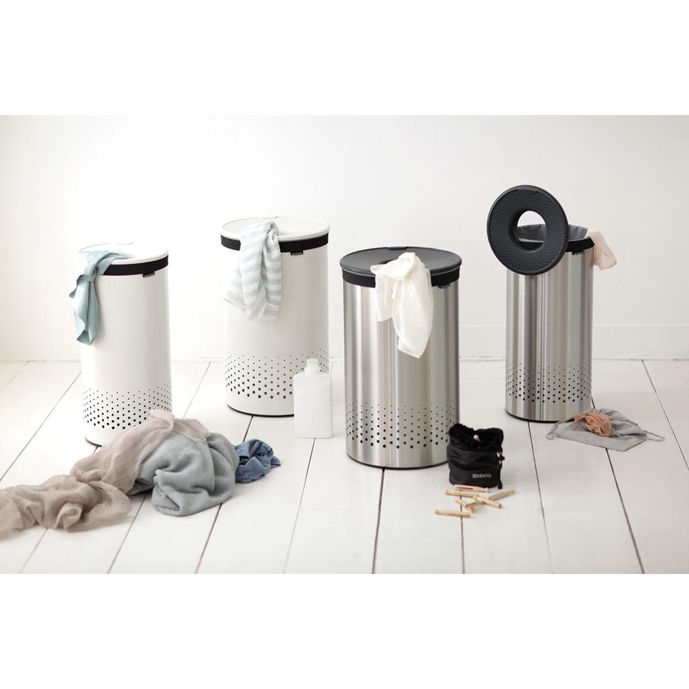 Кош за пране Brabantia 60L, Matt Steel, пластмасов капак(13)