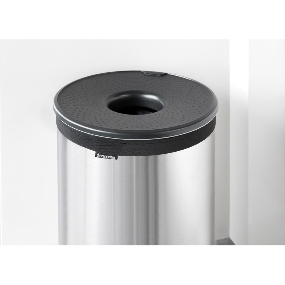 Кош за пране Brabantia 60L, Matt Steel, пластмасов капак(3)