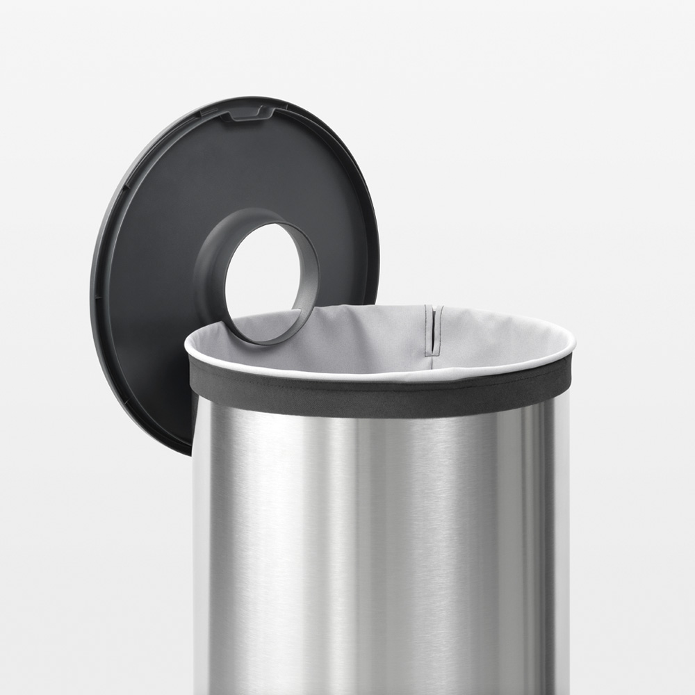 Кош за пране Brabantia 60L, Matt Steel, пластмасов капак(6)
