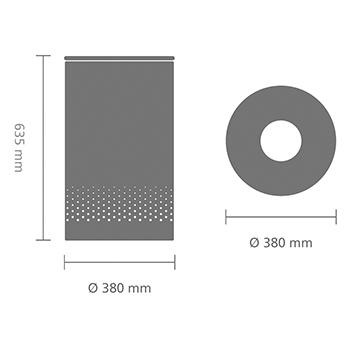 Кош за пране Brabantia 60L, Brilliant Steel, метален капак(5)