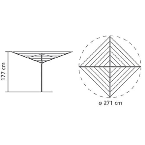 Външен простор Brabantia Essential 40m, котва за бетониране(10)