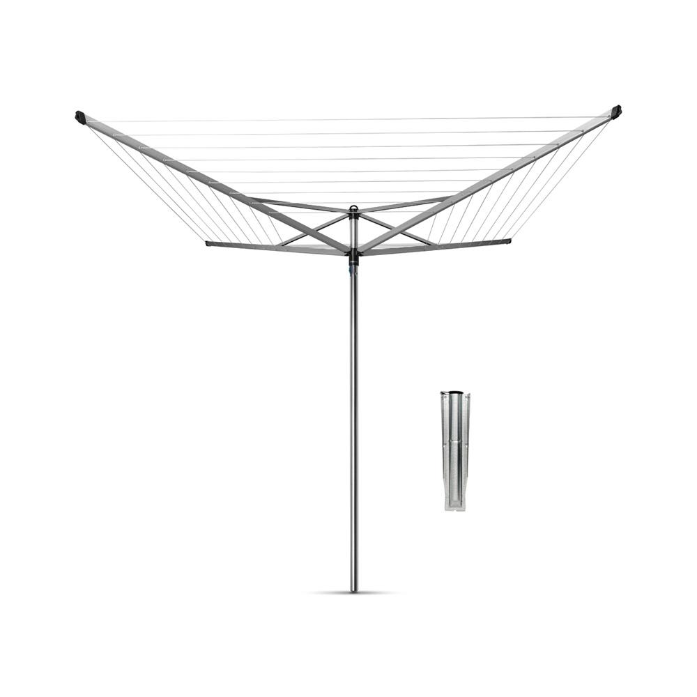 Външен простор Brabantia TopSpinner 40m, метален шиш за вкопаване или бетониране