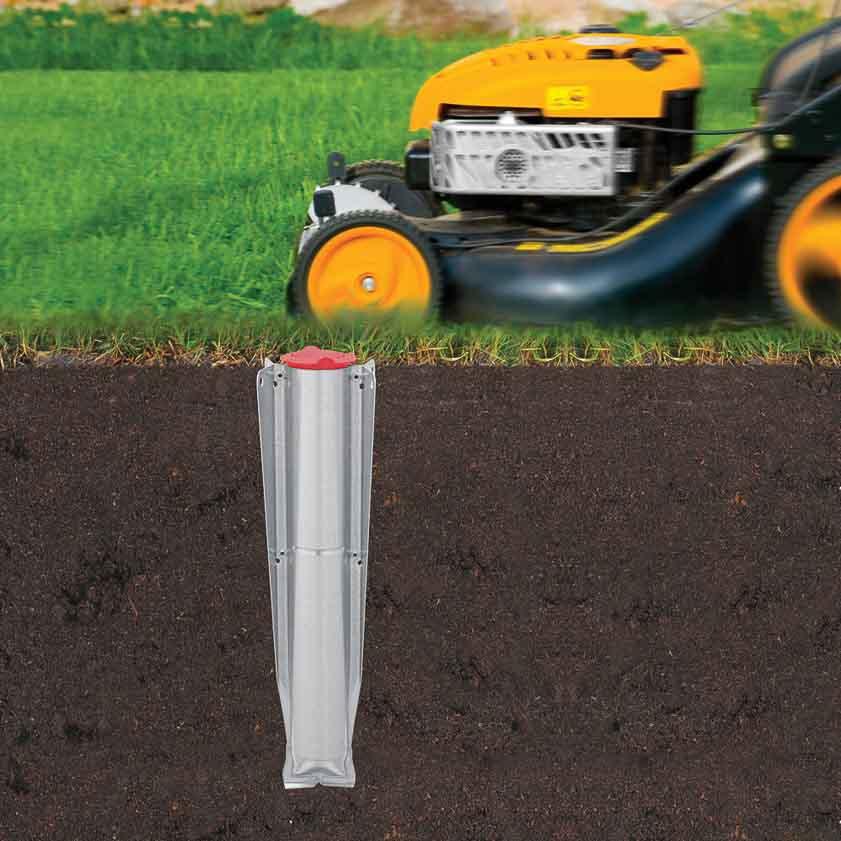 Външен простор Brabantia TopSpinner 60m, метален шиш за вкопаване или бетониране, калъф(6)