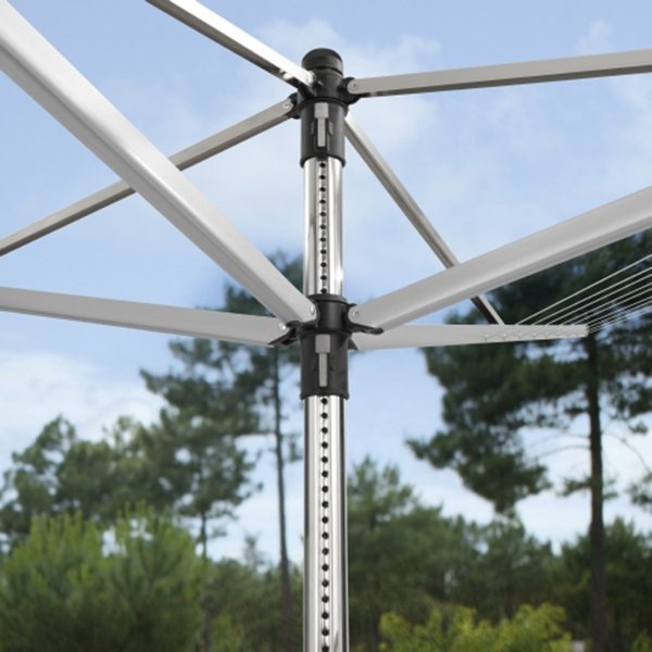 Външен простор Brabantia Lift-O-Matic 50m, метален шиш за вкопаване или бетониране, калъф(11)