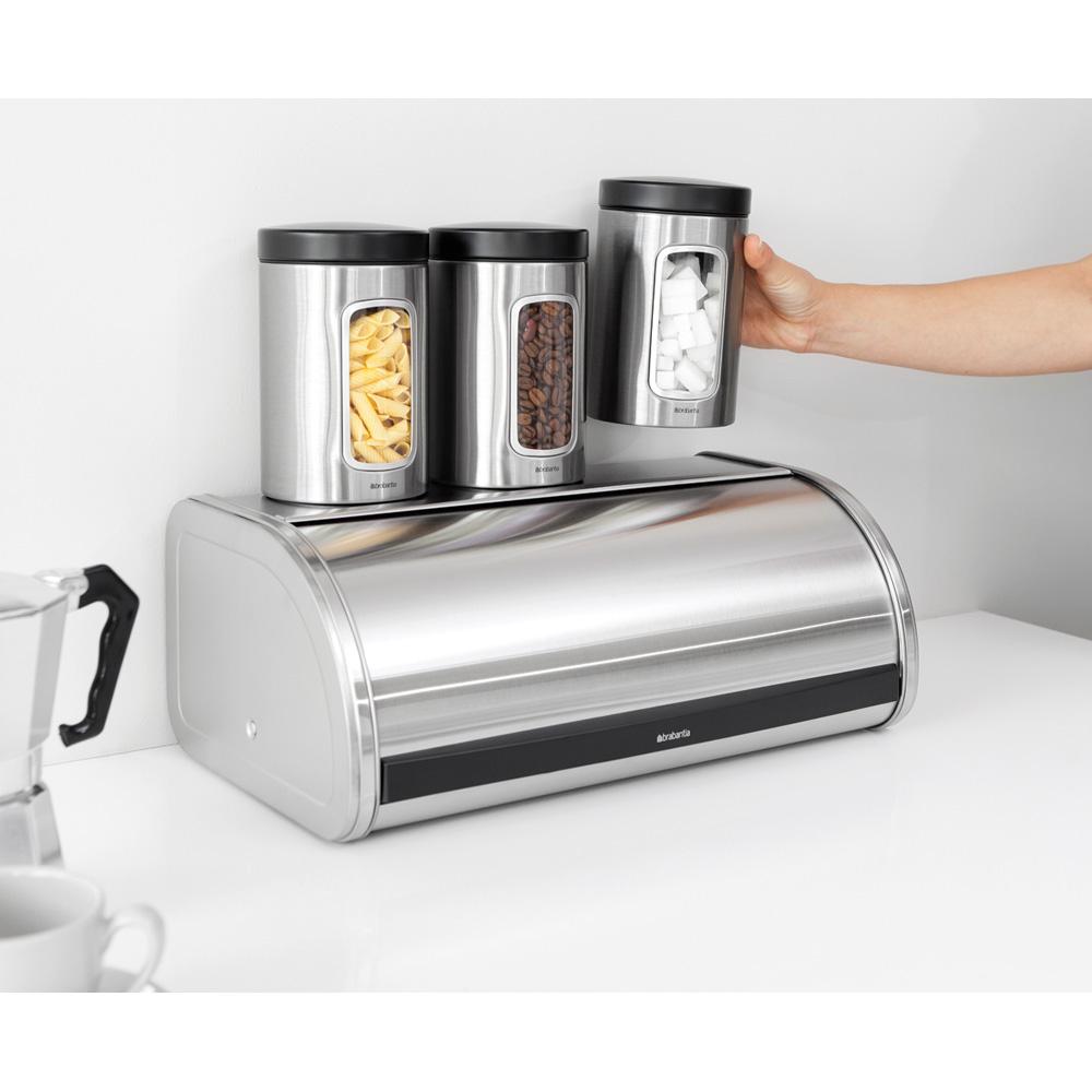 Кутия за хляб Brabantia Roll Top Platinum(4)
