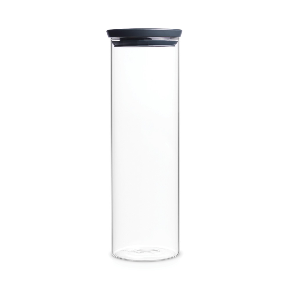 Стъклен буркан Brabantia Stackable 1.9L, Dark Grey