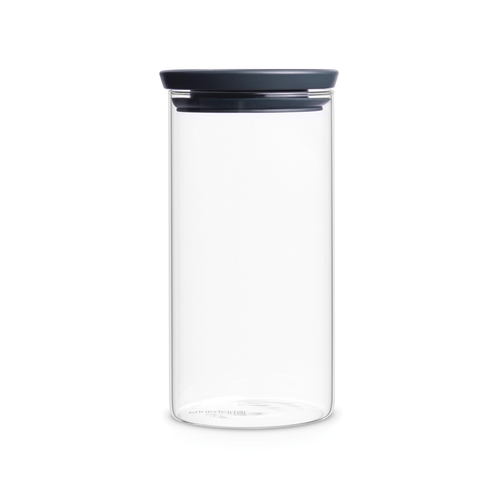 Стъклен буркан Brabantia Stackable 1.1L, Dark Grey