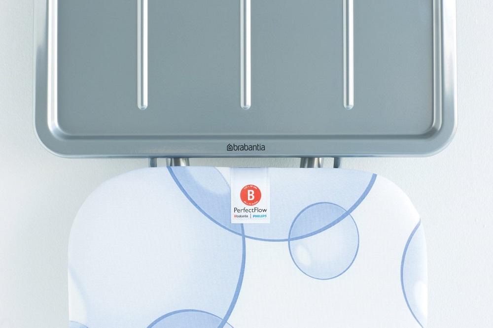 Маса за гладене Brabantia B 124x38cm с поставка за парогенератор, PerfectFlow Bubbles(11)